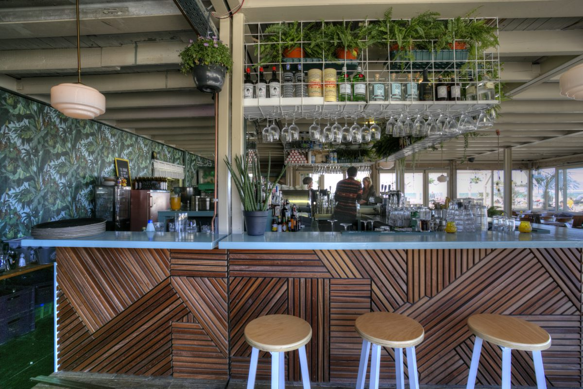 The Fat Mermaid bar wood design